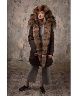 Зимняя куртка с мехом арт. 3321