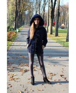 Пальто с мехом норки арт. 2425