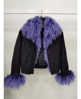 Детская куртка с мехом ламы арт. 2567