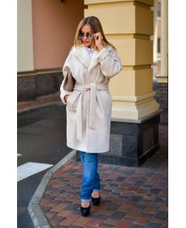 Пальто с отделкой из норки арт. 2032