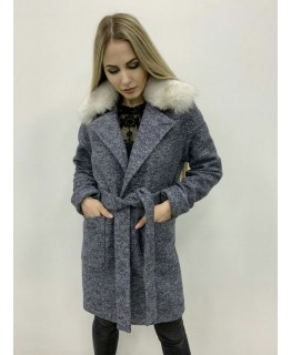 Пальто з хутряниим коміром арт. 2721