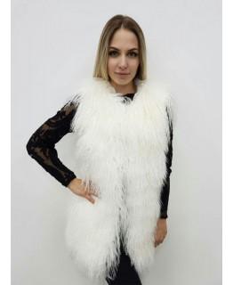 Жилет из меха ламы, 70 см длина арт. 2449