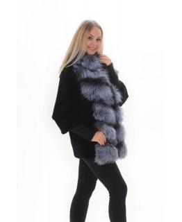 Пальто из меха мутона на молнии арт. 2212