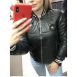Короткая черная куртка арт. 2823 - фото 3
