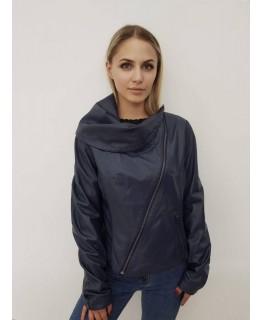 Кожаная куртка синего цвета арт. 2167
