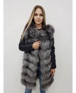 Куртка из меха чернобурки, трансформер арт. 2322