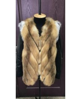 Хутряна куртка-трансформер з лисиці арт. 1093