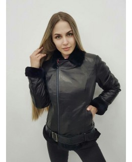 Зимняя кожаная куртка-дубленка арт. 2440