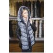 Куртка - трансформер с мехом чернобурки с капюшоном арт. 727 - фото 2