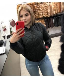 Стильная куртка на молнии арт. 2824