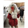Хутряна куртка червоного кольору арт. 3319 - фото 2