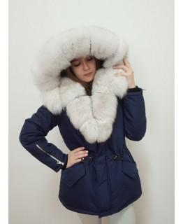 Куртка с мехом песца арт. 3325
