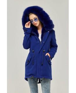 Парка-пальто цвета синий электрик арт. 2351