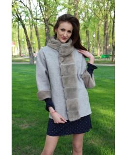 Короткое пальто с мехом норки арт. 3298
