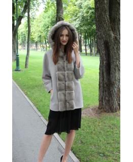 Пальто з капюшоном арт. 3284