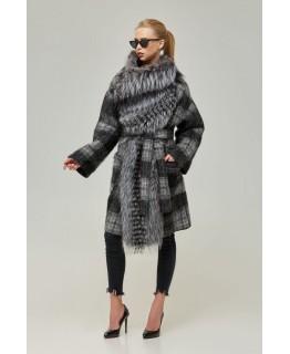 Пальто з хутра чорнобурки арт. 2247