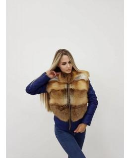 Куртка, трансформер з хутра фінського песця арт. 2447