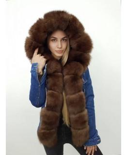 Джинсовая куртка с капюшоном арт. 2414