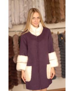 Пальто из альпака фиолетового цвета арт. 1335