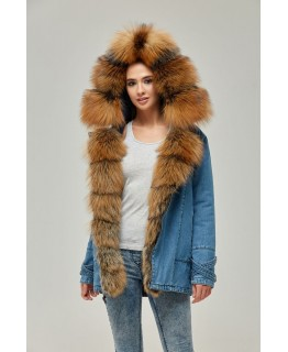 Зимова парка-косуха з хутра Golg Fox арт. 2358
