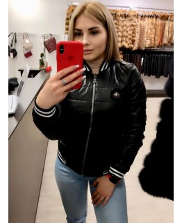 Короткая черная куртка арт. 2823