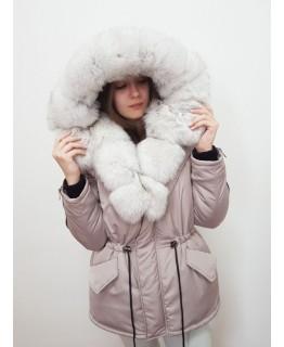 Куртка с мехом песца арт. 3323