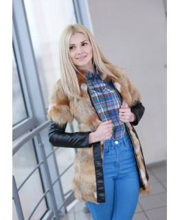 Подростковая куртка из лисы арт. 472