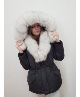 Куртка с мехом песца арт. 3326