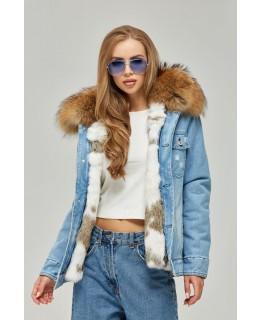 Джинсовая куртка на пуговицах арт. 2356