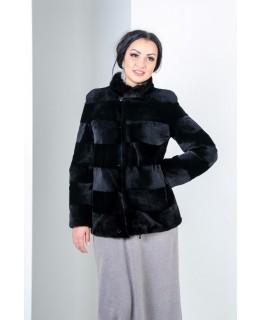 Незвичайна куртка-жакет з хутра бобрика арт. 295