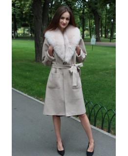 Метрове пальто з хутра песця арт. 3287