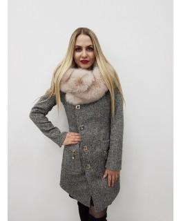 Стильне демісезонне пальто арт. 2812