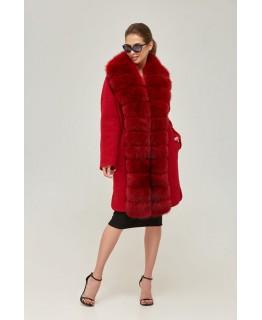 Пальто с мехом арт. 2249