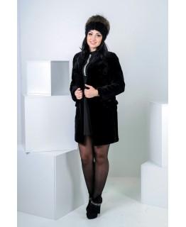Суворе пальто з хутра бобрика арт. 296