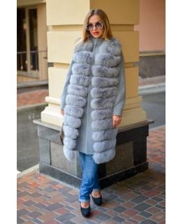 Пальто с мехом песца арт. 2036