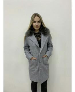 Пальто с меховым воротником арт. 2719
