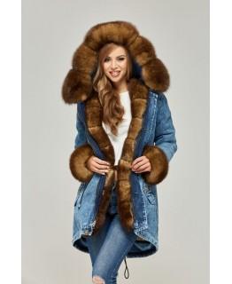 Зимняя куртка с мехом песца арт. 2343