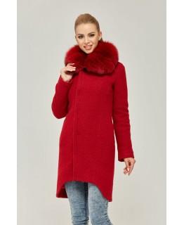 Красное стильное пальто арт. 2253