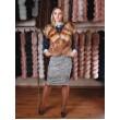 Оригинальный жилет из украинского меха лисы арт. 908 - фото 2