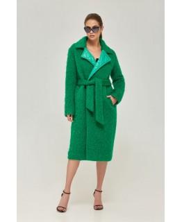 Стильное изумрудного цвета пальто арт. 2263