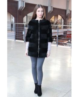 Хутряний пальто з нутрії арт. 575