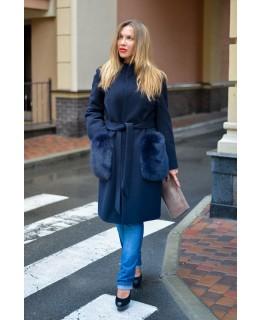 Пальто с меховыми карманами арт. 2031
