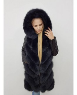 Куртка-трансформер серого цвета арт. 2323