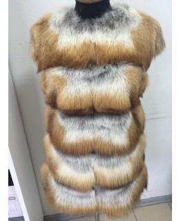 Жилет из меха лисы, украинское производство арт. 338