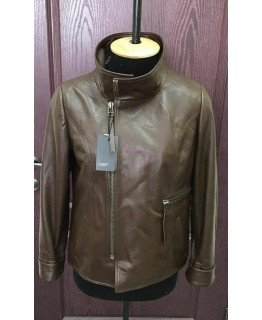 Куртка з натуральної рудої шкіри арт. 1084