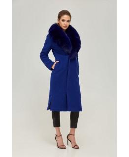 Стильне пальто з хутрянимикоміром арт. 2262