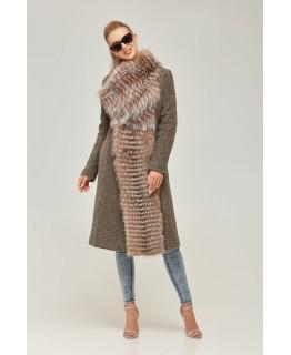 Пальто с чернобуркой арт. 2256