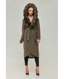 Пальто с капюшоном арт. 2274