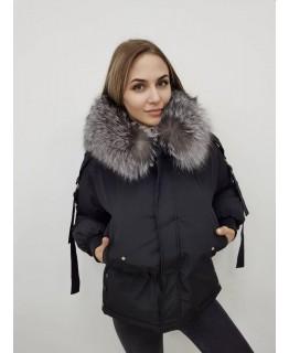 Короткая куртка-парка с шикарным капюшоном арт. 2375