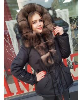 Куртка с мехом песца арт. 3364